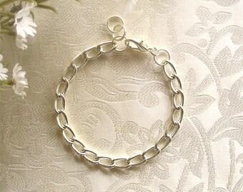 Silver Plated Starter Charm Bracelet - Bracelet Only