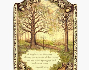 Spiritual inspirational verse nature tree kindness giclee print