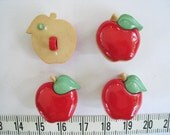 12 pcs of Red Apple Button