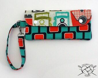 Wallet Wristlet Vintage Cameras