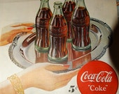 1947 Ladies Home Journal Coca-Cola Advertisement, Soda Pop, 5 cent Coke, Coca-cola Coke Magazine Ad