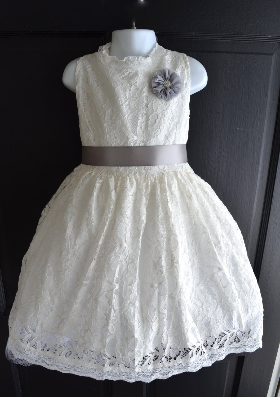 Lace Flower Girl Dress Lace dress Wedding dress bridesmaid