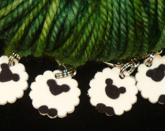 STITCHMARKERS for KNITTERS or CROCHETERS with Hand-Drawn Sheep