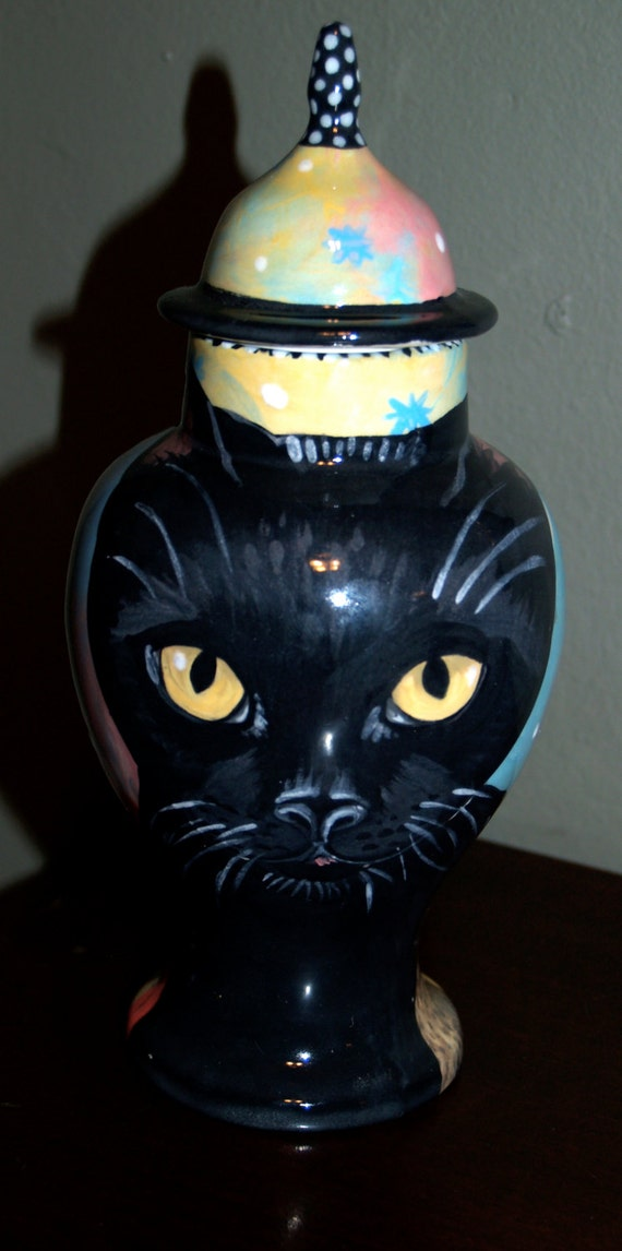 Custom small medium PET URN for dogs and cats SMALL black cat kitty or any smaller breed