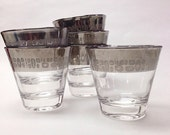 Vintage Set of Silver Trimmed Temporama Glasses Barware Set  Mid Century Modern Don Draper Mad Men ReTRo  dorothy thorpe
