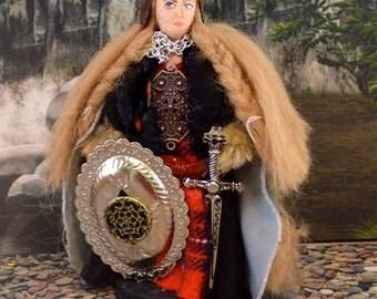 Maeve Irish Warrior Queen Doll Miniature Historical Legendary Figure