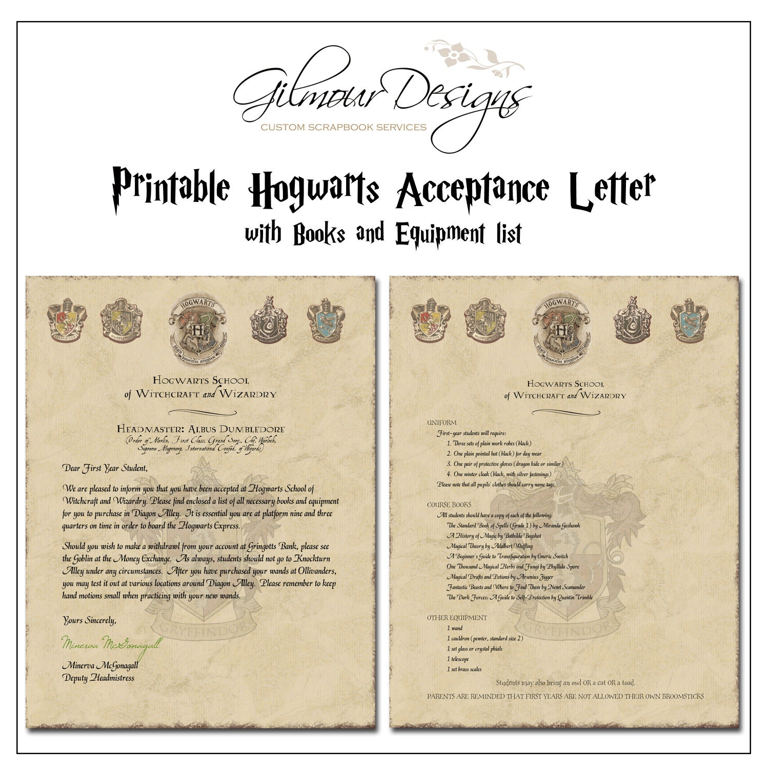 Stupendous image in hogwarts acceptance letter printable