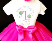 Candy Sweets Rainbow Candyland land 1st First Girl Birthday Tutu Outfit Custom Personalized Name Age Party Shirt Set