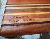 Engraved Chopping Block - Butcher Block - Personalized Wedding Present, Anniversary Gift, Custom Gift - Monogrammed Family Established