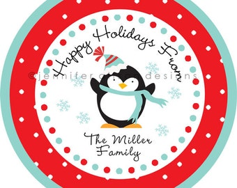 Christmas Holiday Address Labels / Stickers / Cupcake Toppers / Thank You Tags or stickers / various sizes