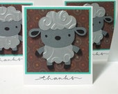 Lamb or Sheep Mini Note Cards - set of 4