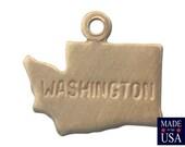 Raw Brass Tiny Washington State Charm Drops (6) chr201F