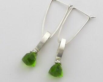 Sterling Silver and Peridot Earrings - E1433