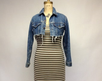 SALE Stripey Fitted Ribbed Tank dress