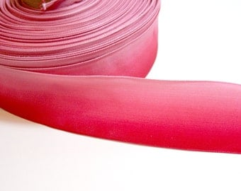 Red Ribbon, Red Ombre Wired Ribbon 2 inches wide x 4 yards, Wire Edge Ribbon