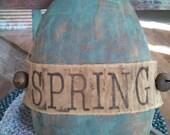 Primitive Blue Spring Egg Hanging