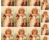 Shabby Chic digital collage sheet for scrapbook and cards DC498 Child with Roses