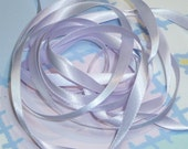 LILAC MIST DouBLe FaCeD SaTiN RiBBoN, Polyester 1/4 inch wide, 5 Yards