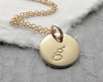 14k Solid Gold Necklace Solid Gold Personalized Necklace Gold Initial Necklace14k Gold Initial Necklace Mother's Day Gift Holiday Gift
