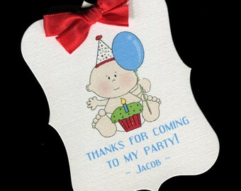 Boys Birthday Party Favor Tags - First Birthday - BIrthday Party Tags - Boys BIrthday Tags - Personalized Tags - Party Favor Tag - 20