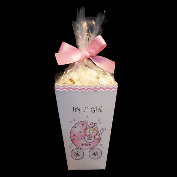 baby shower popcorn box favor boxes baby shower favor baby