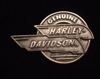 OLD SCHOOL vintage harley   genuine davidson pin.  FANTASTIC