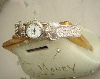 Floral Silver Spoon Quartz Watch