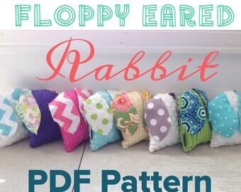 Ahmelie.com Floppy Eared Rabbit PDF Pattern, Instant Download--Easy Beginner