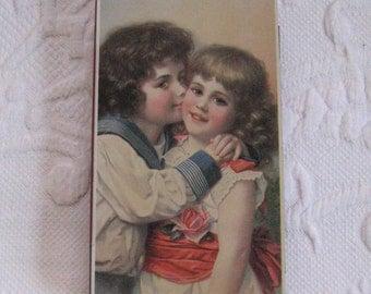 Candy Tin . Swiss Candy Tin . Kissing Couple . kissing couple tin. Victorian kiss tin