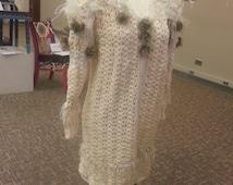 Ivory Wedding Sweater Coat