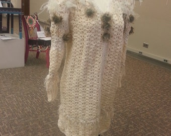 Ivory Wedding Sweater Coat
