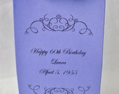 60th Birthday - Candy Bags - 60th Birthday Decorations - Birthday Favors