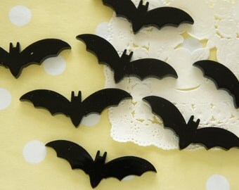 8 pcs Bat Cabochon (15mm44mm) DR491
