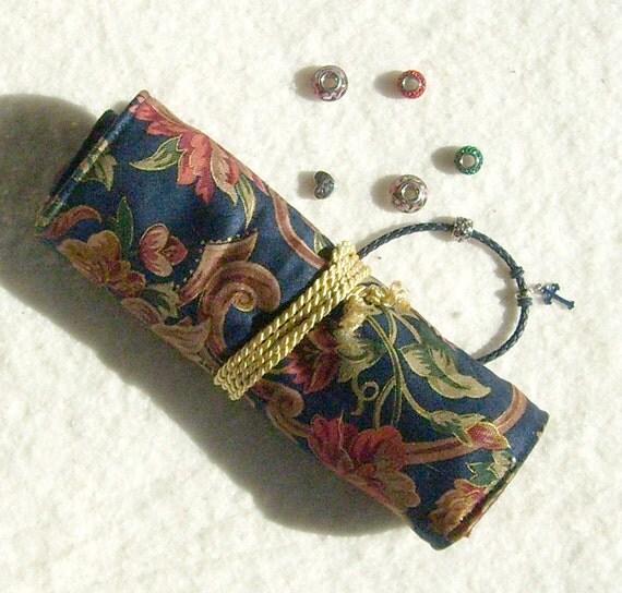 Pandora Jewelry Roll: Anti Tarnish Jewelry Roll In Navy: Designed For Pandora Style