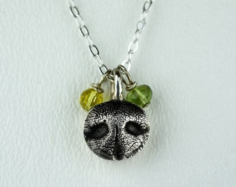 Dog Nose Necklace Silver Mini Dog Snout Charm