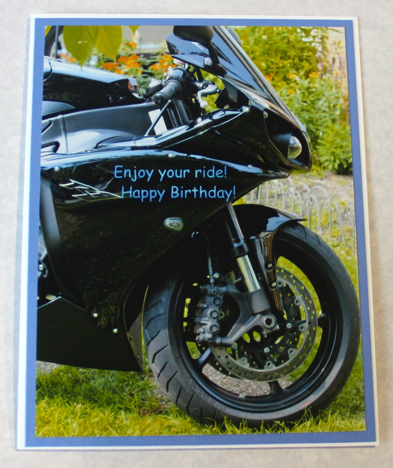 carte de voeux anniversaire moto photo par angelicimpressions. Black Bedroom Furniture Sets. Home Design Ideas