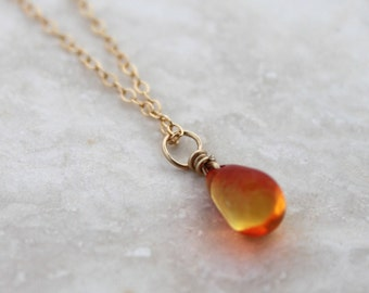Orange Dragon's Tear Necklace