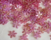 New Item -- 7g of 15 mm 6 Petals Flower Sequins in Iris Watermelon Color