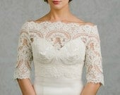 Bianca | off the shoulder Lace Bridal Bolero in Larger Sizes