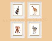 Safari Nursery Animal prints, 8x10 print, orange nursery, kids room, ready to frame