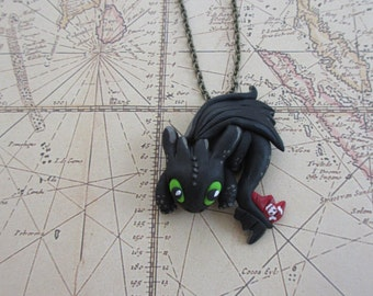 Toothless - How to Train Your Dragon - Night Fury Necklace