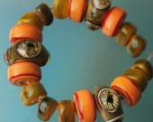 SALE - Watcher - Handmade Lampwork Beads Set (SRA)