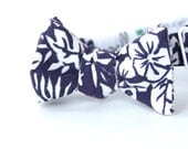 navy aloha freestyle bow tie for the little guy