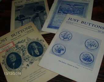 vintage JUST BUTTONS magazines from 1940's- reference!