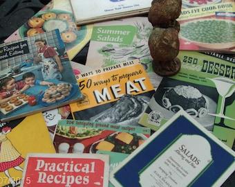 more more more dozen vintage cookbooks