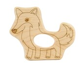 Fox Wood Toy Teether
