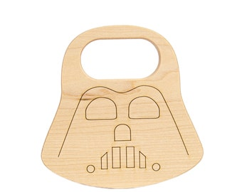 Wood Toy Darth Vader Teether, *Limited Edition*  wooden baby toy - Wood Teether - Darth Vader - Star Wars Toy - Teether -TE24