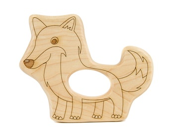 Fox Wood Toy Teether