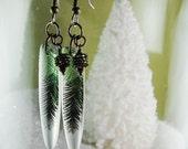Evergreen pine earrings, resin earrings, winter pine earrings, pine cone , earrings , gifts under 20