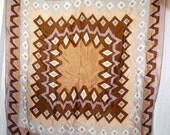 Vintage Silk Scarf Signed Oscar De La Renta 100% silk